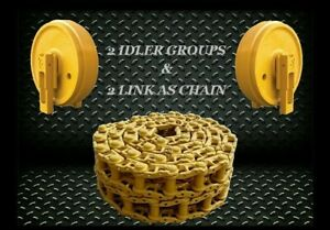 Case 850l Track 40 Link Chain Idler X2 Replacement Dozer Sealed Lubricated