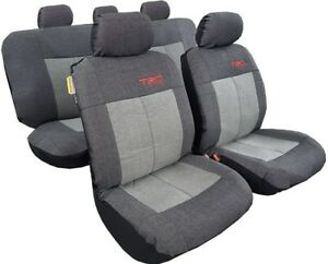 Road Sports Camo Leatherette Canvas Universal Airbag Truck Car Seat Covers Full