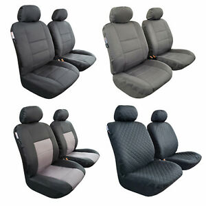Car Seat Covers Carbon Black Set For Trucks Suv Universal Fit Front Bucket Bench