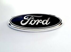 Black Ford 7 Inch Emblem Badge 3d Oval 3m Double Side Adhesive Tape Sticker F150