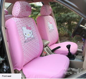 2 Front Set Hello Kitty Car Seat Cover Cute Pink Accessories Interior Decorate