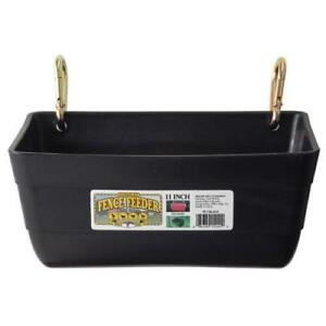 Little Giant Black Fence Feeder Black
