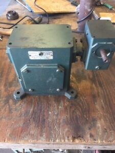 Grove Gear Sp Dt232 2 Double Reduction Worm Gear Reducer 56 1 Ratio 1 28 Hp