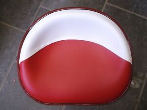 Ih Farmall Deluxe Upholstered Seat Pan Red White New