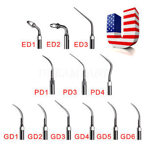5 10 20 Dental Ultrasonic Scaler Endo Perio Scaling Tip Fit Dte Satelec 12 Type