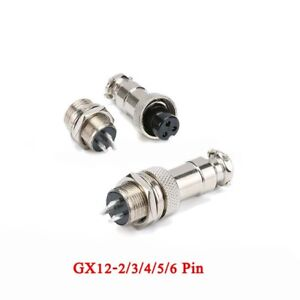 Gx12 2 3 4 5 6pin 12mm Male female Panel Metal Aviation Plug Socket Connector