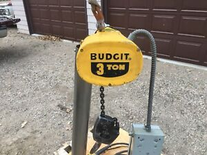 3 Ton Budgit Over Head Electric Chain Hoist System