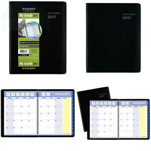 At a glance Monthly Planner Appointment Book 2017 Quicknotes 8 1 4 X 10 7 8