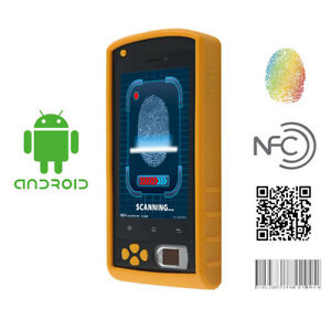 5 Inch Android Fingerprint Hand Held Terminal Java Barcode Scanner With Free Sdk