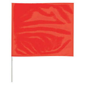 Grainger Approved Marking Flag 18 Red pvc Staff Pk100 P4518r 200 Red