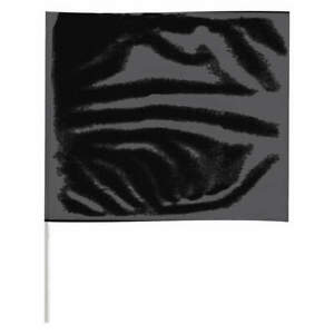 Grainger Approved Marking Flag 18 Black pvc Staff Pk100 P4518bk 200 Black