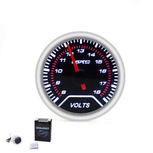 2 52mm Universal Car Auto Smoke Lens Led 8 18 Volt Voltage Gauge Meter Pointer