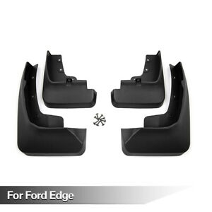 Black Car Front Rear Mud Flaps Splash Guards Set For 2015 Ford Edge