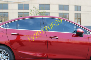 16x Window Pillars Post Middle Sticker Cover Pc For Chevrolet Cruze 2017 2018
