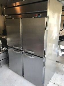 49 Cu ft Commercial Reach in Freezer With 4 Solid Doors Beverage air Hfs2 1hs