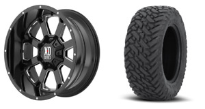 22x10 Xd Buck Xd825 Black Wheel Tire Package 33 Fuel Mt 8x165 1 Chevy Gmc 8 Lug