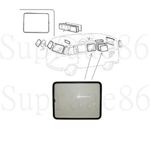 Pop Out Window Assembly Black Frame For 1950 1967 Vw Type 2 Split Screen Bus