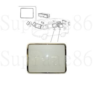 Pop Out Window Assembly Chromed Frame Fits 1950 1967 Vw Type 2 Split Screen Bus