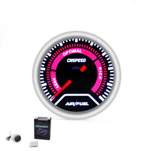 Universal 2 52mm Red Led Digital Car Auto Air Fuel Ratio Monitor Racing Gauge