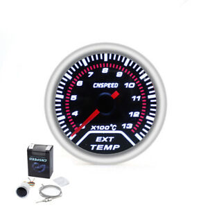 2 52mm Auto Car Led Exhaust Gas Temperature Temp Egt Gauge Meter Pointer Sensor