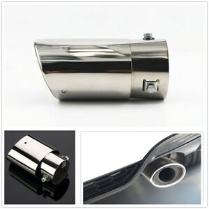 3 Chrome Stainless Steel Car Truck 4x4 Rear Exhaust Pipe Tail Muffler Dual Tip
