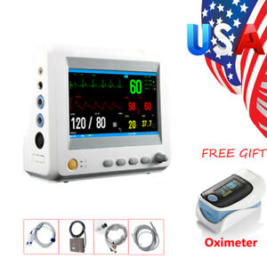Usa 7 Inch Tft Lcd Display Icu ccu Patient Monitor 6 Parameter Vital Sign Device