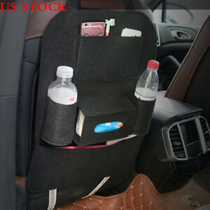 Car Auto Back Seat Organizer Holder Multi Pocket Pouch Storage Bag Hanger Black