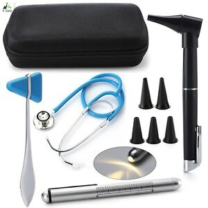 Reusable Medical Penlight With Pupil Gauge Reflex Hammer Stethoscope Carry Cas