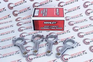 Manley H beam Connecting Rods 8868 Pin Bore Fits Ford Ecoboost 2 3l set Of 4