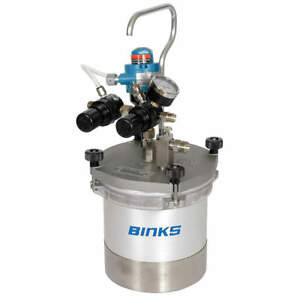 Binks 2 Quart Pressure Spray Gun Cup With Agitator product 80 651