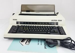 Electronic Typewriter Royal Alpha 2015 W Case Excellent Condition