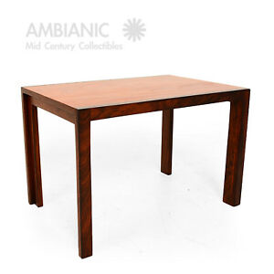 Mid Century Danish Modern Solid Rosewood And Mahogany Side Table