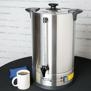 Avantco Cu110etl 110 Cup Stainless Steel Coffee Urn 1500w Sturdy Easy To Use