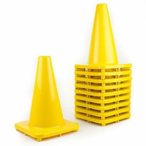 Rk Pvc Traffic Safety Cone 12 Inch Construction Safety Cones yellow
