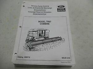 New Holland Model Tr97 Combine Service Parts Manual