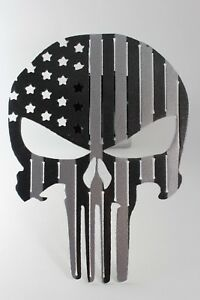 Punisher Flag Trailer Hitch Cover Black And Silver