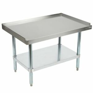 Grill Equipment Stand Stainless Steel 24 X 60 Heavy Duty Nsf
