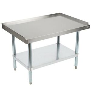 Grill Equipment Stand Stainless Steel 24 X 48 Heavy Duty Nsf