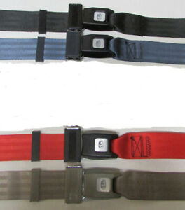 2 Point Non Retractable Lap Seat Belt Universal Fit Seatbelt Select Color 74