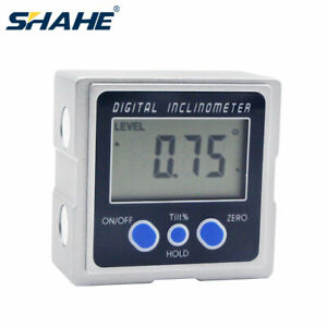 Digital Protractor Angle Meter 3 Surfaces Magnetic Base Inclinometerbevel Box