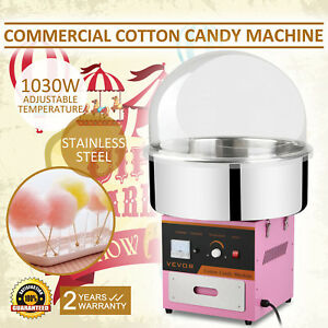 Electric Commercial Cotton Candy Machine Floss Maker Pink W cover
