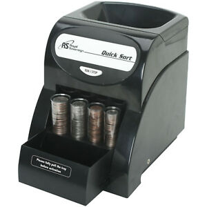 Coin Sorter Machine Money Counter Change Electric Count Wrapper Business Tray