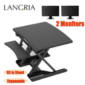 Electric Height Adjustable Standing Desk Ergonomic Sit Stand Office Tabletop