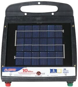 Fi shock Esp10m fs Electric Fence Charger Solar battery Powered 4 Vdc Input