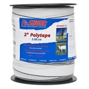 Fi shock Pt500w2 fs Electric Fence Polytape 2 Inch 500 Foot White