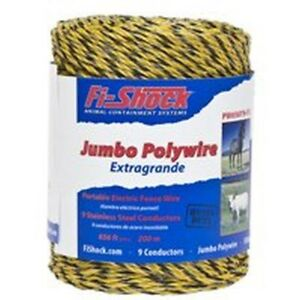 Fi shock Pw656y9 fs 9 strand Fence Wire 656 Ft L Plastic