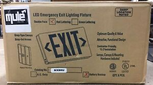 New In Box Mule Led Emergency Exit Lighting Fixture case lot Of 6 Mxbru