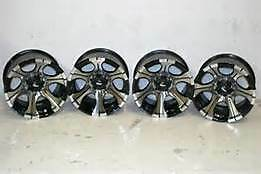 4 17x9 Dick Cepek Dc 2 Black Wheels Set 17 8x6 5
