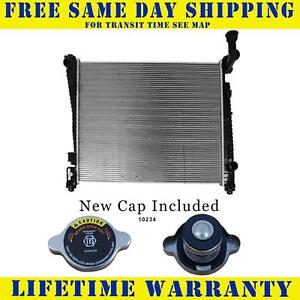 Radiator With Cap For Dodge Jeep Fits Durango Grand Cherokee 3 6 5 7 6 4 13200wc