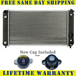 Radiator With Cap For Gmc Chevy Fits Blazer S10 Jimmy Sonoma Bravada 4 3 1826wc